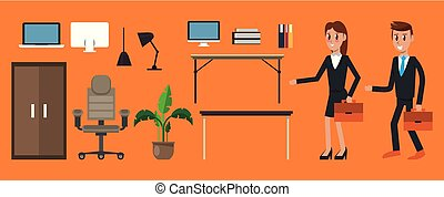 Set of office elements