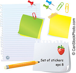 Set of office stationery - pencil