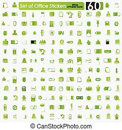 Set of office stickers