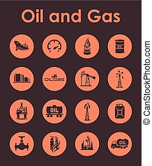 Set of oil and gas simple icons - It is a set of oil and gas...