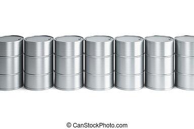 set of oil barrels
