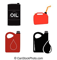 Set of oil containers