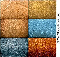 Set of old paper grunge textures