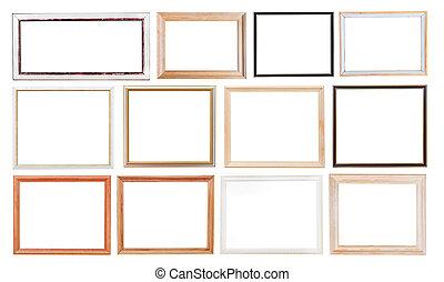 set of old picture frames