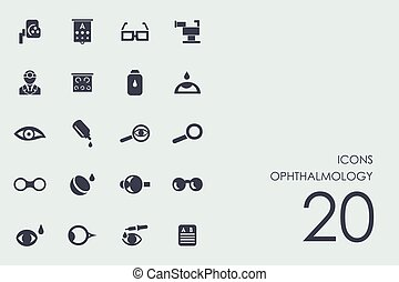 Set of ophthalmology icons - ophthalmology vector set of...