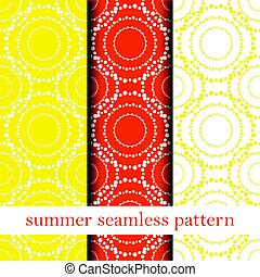 set of orange abstract seamless pattern. vector.