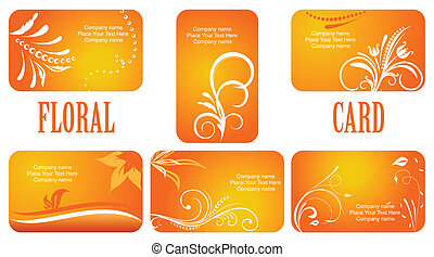 autumn business cards