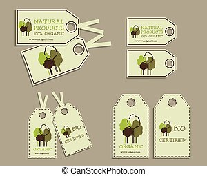 Set of Organic Labels for Natural Products.