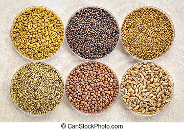 set of organic sprouting seeds