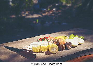 set of Organic vegetables