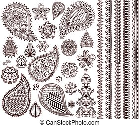 Set of oriental ornaments