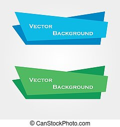 Set of Origami Vector Banners