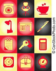 Set of original business icons
