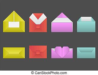 Set of original envelopes made for the holidays.