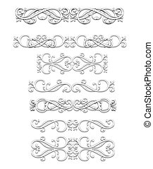 set of ornamental ellements