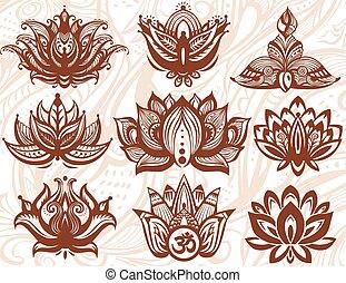 Ornamental Lotus flowers