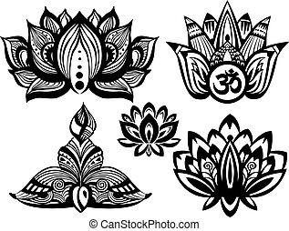 Set of Ornamental Lotus