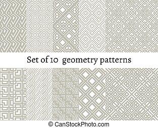 Set of ornamental patterns