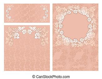 Set of ornamental templates
