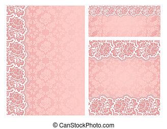 Set of ornate flowers vector frames