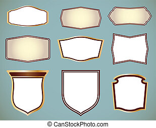 Set of ornate frames. Vector illustration