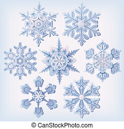Set of ornate snowflakes