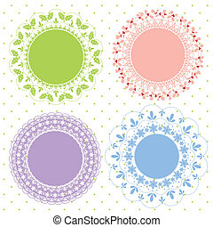 Set of ornate vector frames for Christmas