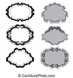 Set of ornate vector frames