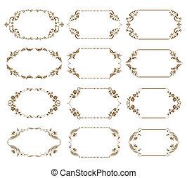 Set of ornate vector frames