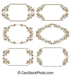 Set of ornate vector frames - Set of ornate floral vector ...