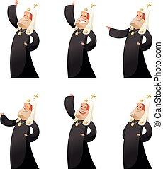 Set of orthodox priests
