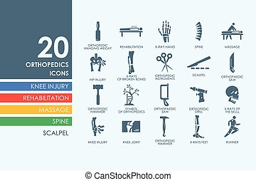 Set of orthopedics icons - orthopedics vector set of modern...