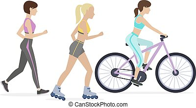 Set of outdoor workouts