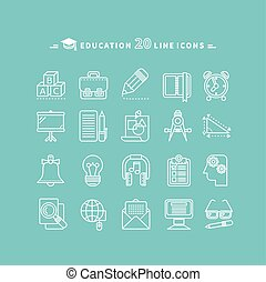 Set of Outline Education Icons