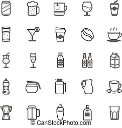 Outline Stroke Beverage icon - Set of Outline Stroke...