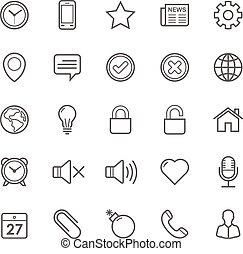 Set of Outline stroke General icons Vector illustration