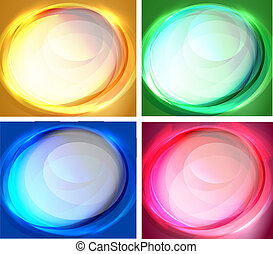 Set of oval backgrounds