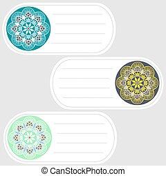 set of oval tags