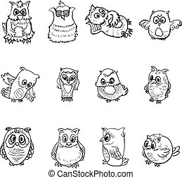 Set of owl