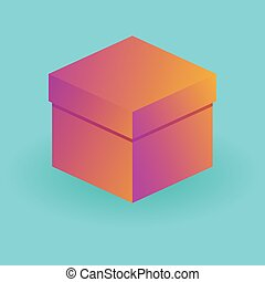 set of packing boxes - Multicolored, colourful packing box....