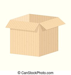 set of packing boxes - Packing craft box. Flat vector...