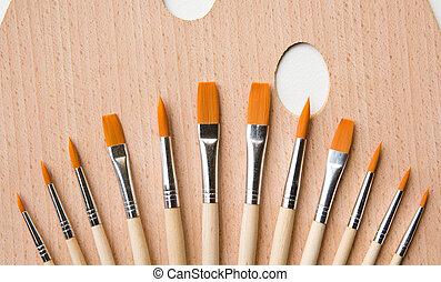 Set of paint brush
