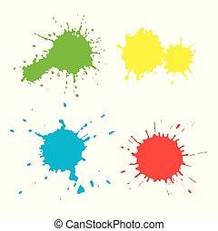 Set of paint spots of different colors