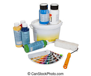 Set of paint tools