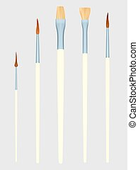 Set of Painting brushes. Vector illustration