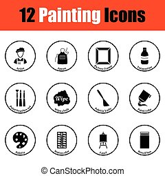 Set of painting icons