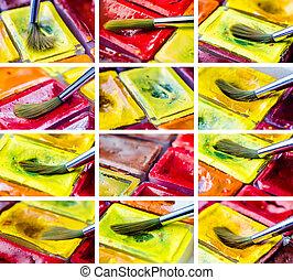 set of paints