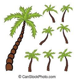 set of Palm trees