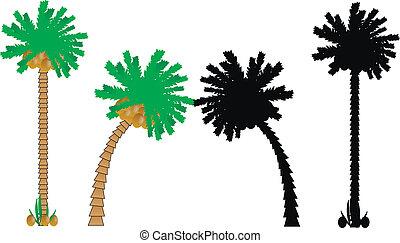 Set of palms