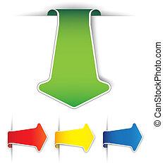 Set of paper arrows